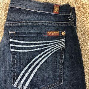 7 For All Mankind Dojo Rhinestone Flare Jeans 31